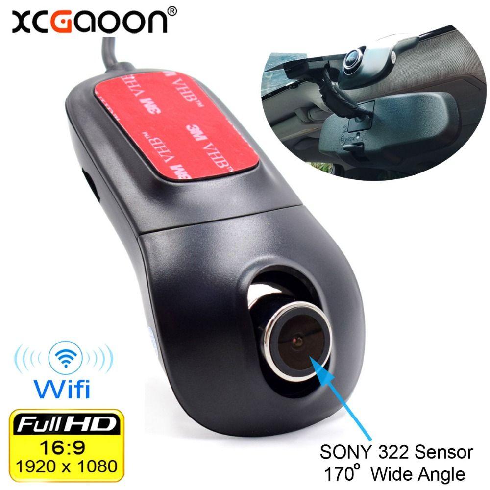XCGaoon Wifi voiture enregistreur DVR enregistreur vidéo numérique caméscope caméra de bord 1080P Version nocturne Novatek 96655 rotation 60 degrés