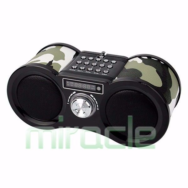 Speaker with stereo FM radio can remote control free shipping