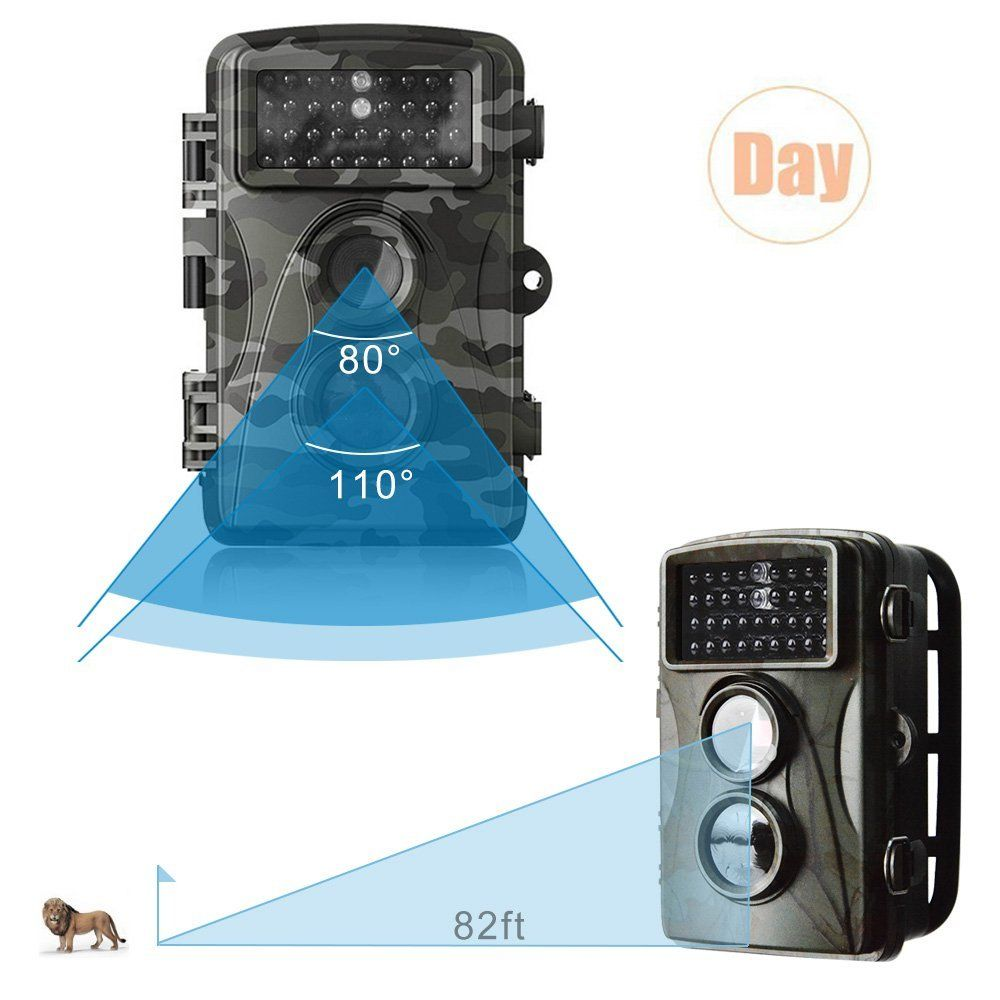 Photo traps Hunting Camera 12MP HD Digital Scouting Trail Camera Night Vision IR LED Hunting Video Recorder home security camera