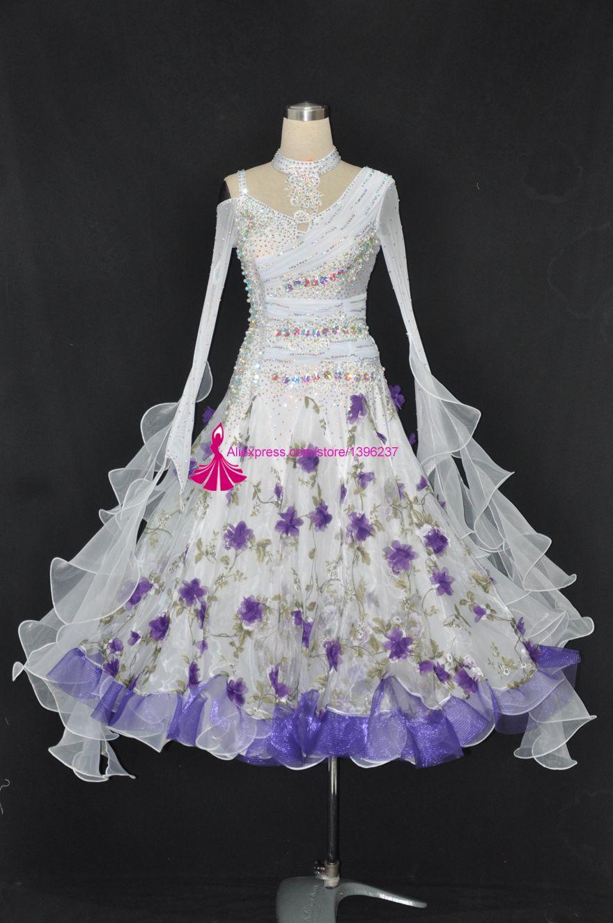 Ballroom Dance Skirt For Women Shiny Show Standard Waltz Modern Competition Dancing Costume Flamenco Ballroom Dance Dresses