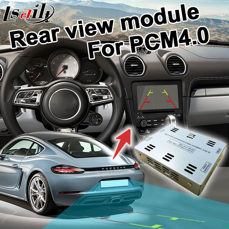 Rear view adapter interface for Porsche PCM4.0 system RCA signal input mirror link support