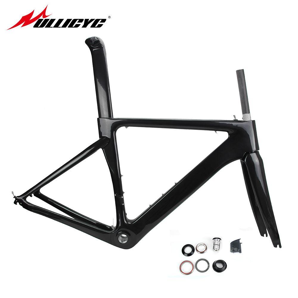 Ullicyc T800 Carbon Rennrad Fahrradrahmen Superleicht Langlebig 700C 510/540/560mm Di2 Mechanischen BSA Matte Rahmen + Gabel + Headset