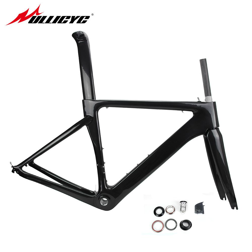 Ullicyc T800 Carbon Road Bike Bicycle Frame Super Light Durable 700C 510/540/560mm Di2 Mechanical BSA Matte Frame+Fork+Headset