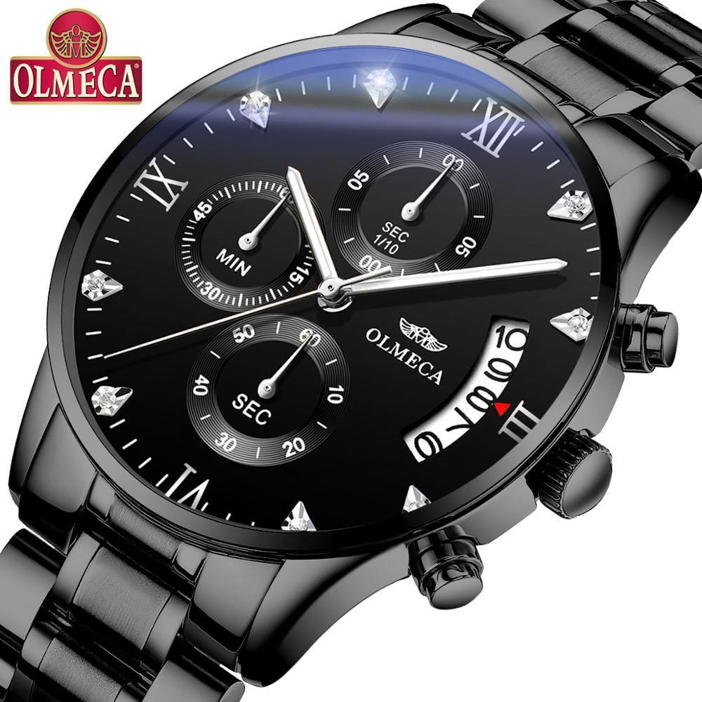 OLMECA Relogio Masculino Men Watches Luxury Famous Top Brand Men's Fashion Casual Dress Watch Military Quartz Wristwatches Saat