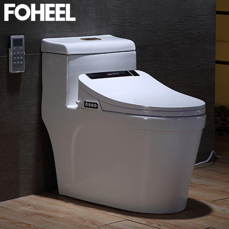 FOHEEL Toilet Seat Washlet Intelligent Elongated Electric LCD 3 Color Bidet Cover Smart Bidet Heating Sits Led Light Wc
