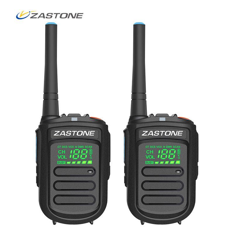 (2pcs) Zastone Mini9+ DMR Mini Digital Walkie Talkie Portable 2W UHF 400-470MHz HF Transceiver CB Radio Comunicador CB Radio