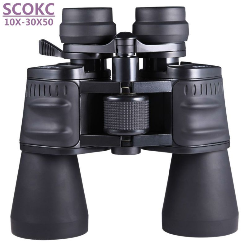 SCOKC10-30X50 power zoom glass Binoculars professional telescope for hunting high <font><b>quality</b></font> monocular telescope binoculars