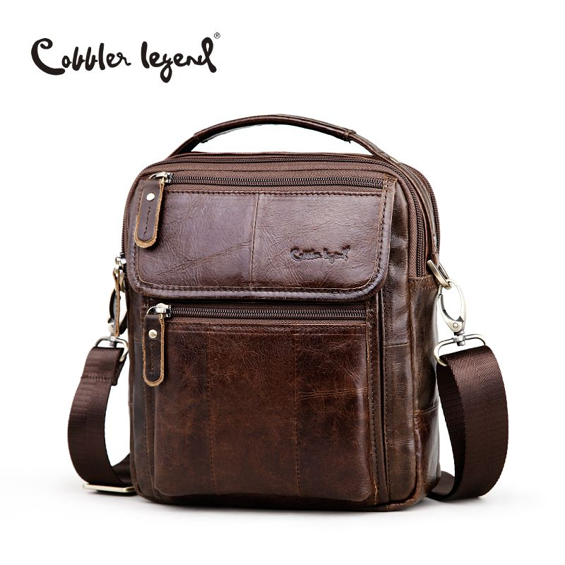 Cobbler Legend Brand Men's Genuine Leather Business Bag 2018 Men Shoulder Bags High Quality Male Handbags for Men Satchels Beg