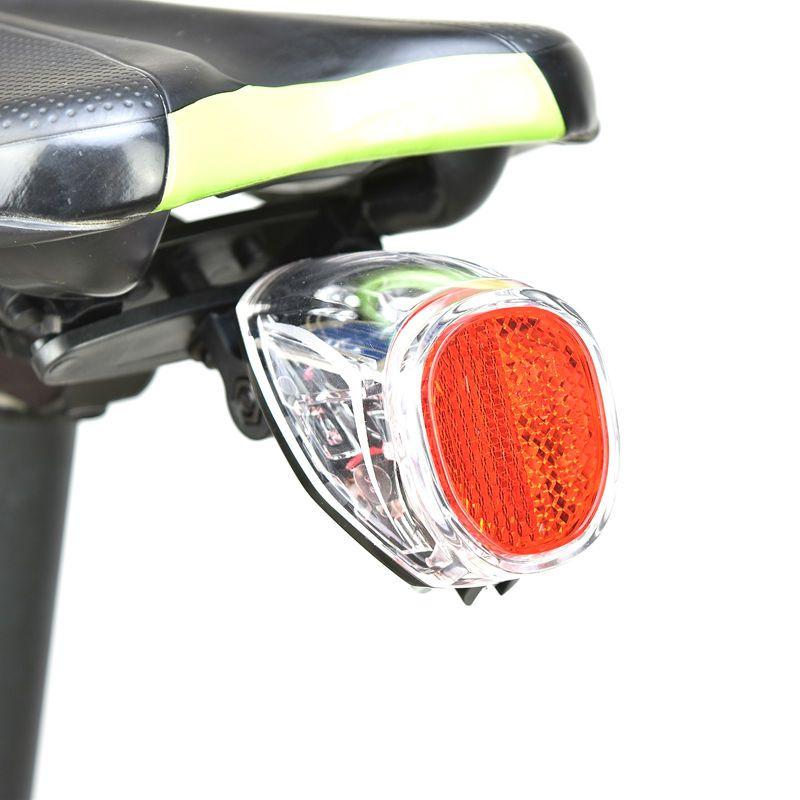 Lumière de vélo solaire intelligente arrière Rechargeable lumière de vélo solaire queue lampe de poche LED lampe de cyclisme
