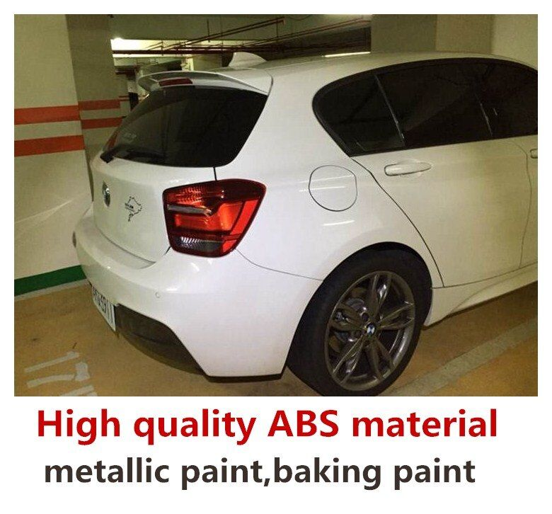 For bmw F20 F21 spoiler rear wing 116i 120i 118i M135i 2012 to 2019 Universal spoiler high quality ABS Primer and paint color