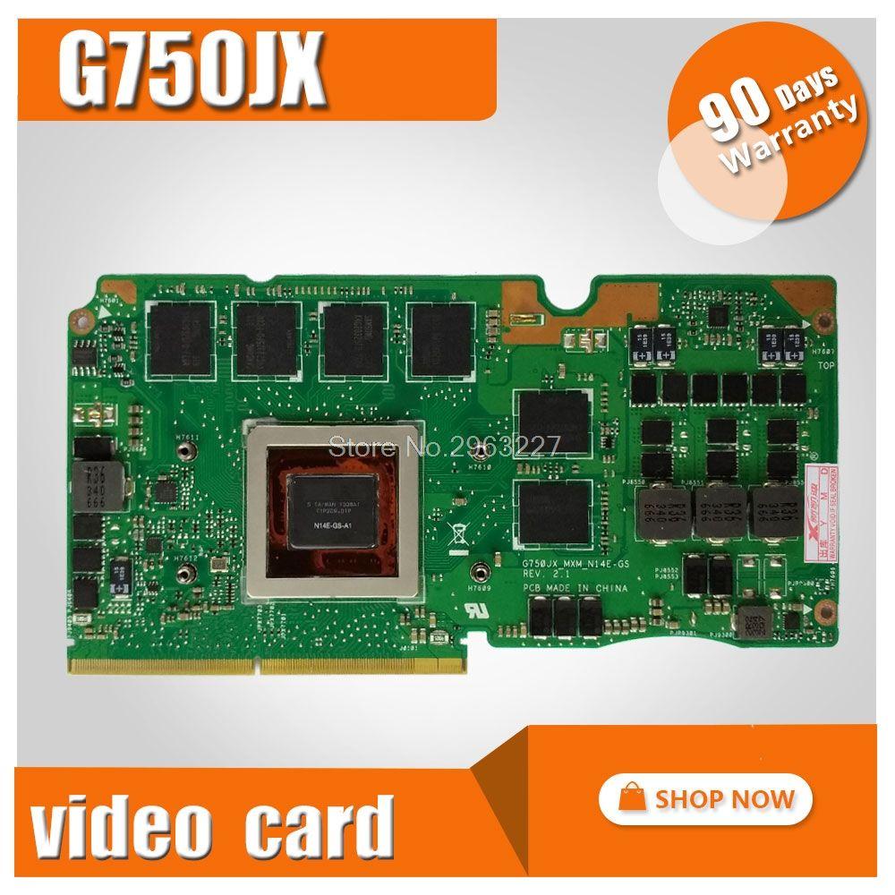 For Asus ROG G750Y47JX-BL laptop card G750J G750JX N14E-GS-A1 GeForce GTX 770M 3GB VGA Graphic card Video card