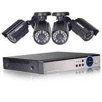 Defeway HD 1080n 4 canales sistema cctv videovigilancia dvr kit 4 unids 1200tvl seguridad 4 ch Cámara sistema HDD nueva llegada