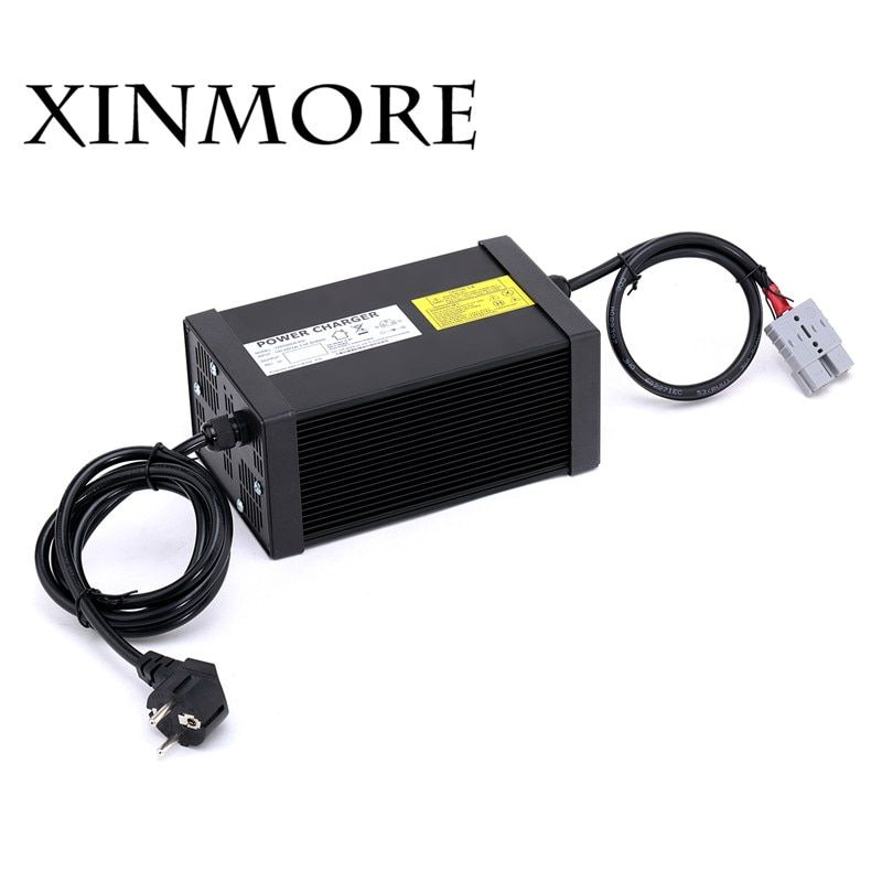 XINMORE 14.6V 40A 39A 38A Lifepo4 Lithium Battery Charger For 12V E-bike Pack AC-DC Power Supply for Electric Tool