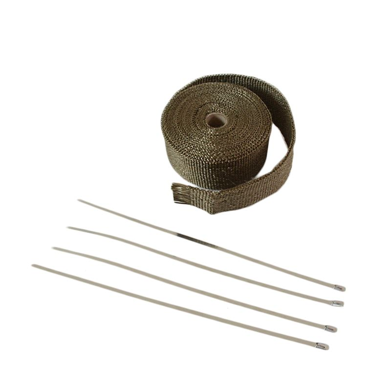 CAR MOTORCYCLE Incombustible Turbo MANIFOLD HEAT EXHAUST WRAP TAPE THERMAL STAINLESS TIES