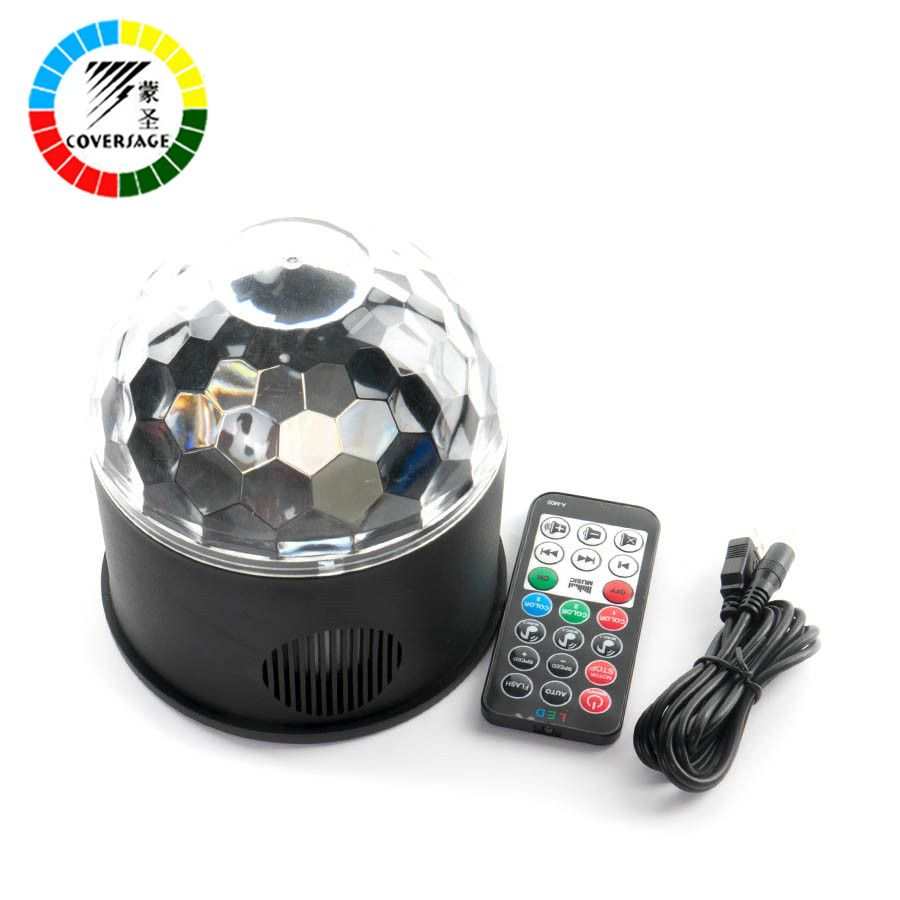 Coversage Led <font><b>Disco</b></font> Party Stage Light Club USB DJ Laser Bluetooth Music Speaker With Remote Controller Mini RGB Projector Lamp