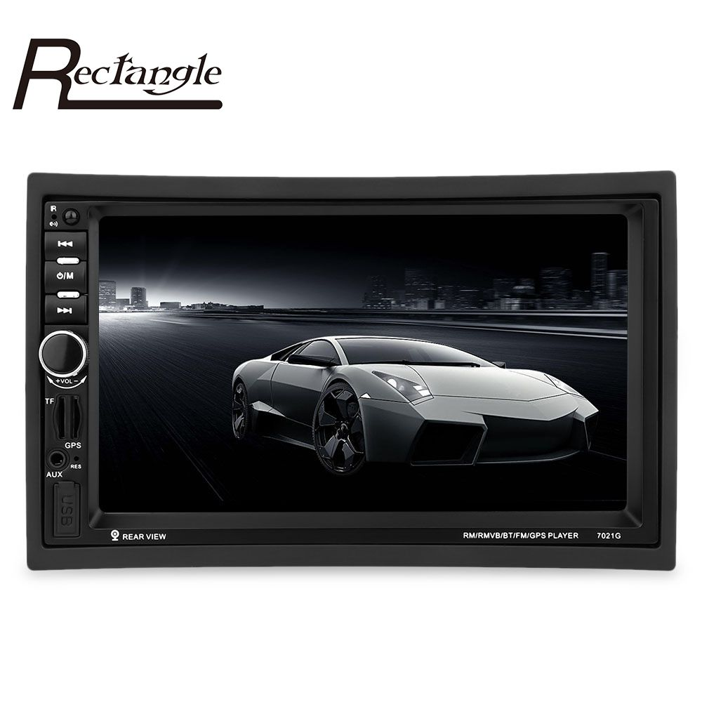 7021G 2 Din Car MP4/MP5 Player 7inch Touch Screen With Radio GPS Function SD USB AUX Rear View Steer Wheel Control Car Player