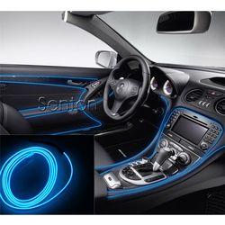 Estilo Atmósfera Luces Interiores del coche Para Audi A3 A4 B5 B6 B7 B8 A6 C5 C6 A1 A5 Q5 Q7 TT S3 S4 S5 S6 S8 accesorios