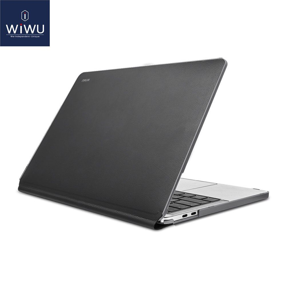 WIWU Laptop Sleeve for MacBook Pro 13 Waterproof PU Leather Hardshell Case for MacBook Pro 13 Inch A1706 A1708 Full Protection