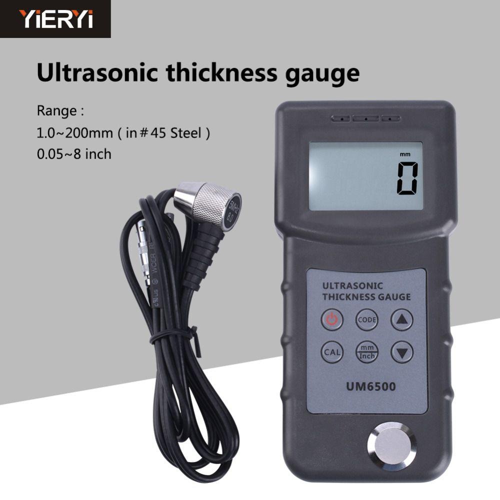 Hand-held Precision Measurement Ultrasonic Thickness Gauge / Iron Plate Thickness Boiler UM6500 Ultrasonic Thickness Gauge