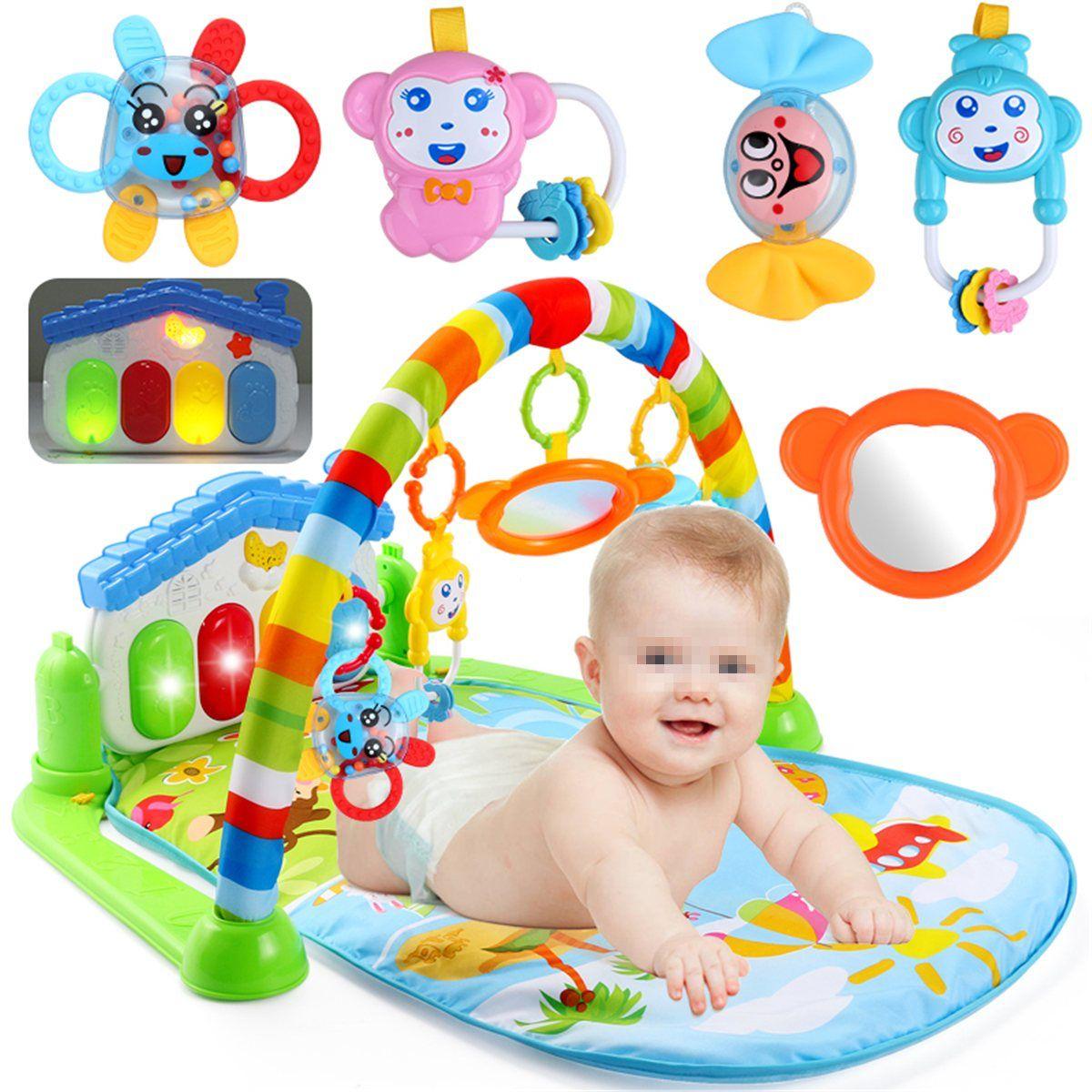 Nueva 3 en 1 Multifunción Estera del Juego Del Bebé Recién Nacido de la Música Piano de Fitness Gym Juego Esteras de Actividad Para Los Niños Regalo de Los Niños juguetes