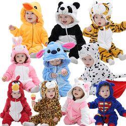 Bébé barboteuses bonjour kitty filles vêtements nouveau-né bébé de Bande Dessinée pyjamas chaud hiver animal Pyjamas roupas de bebe recem nascido YJY
