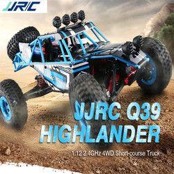 Jjrc Q39 4WD RC Car 2.4G Remote Control 1:12 Listrik 40Km/H RC Mainan RC Rakasa Truk Mainan Rock crawler Off Road RC Mobil Mainan