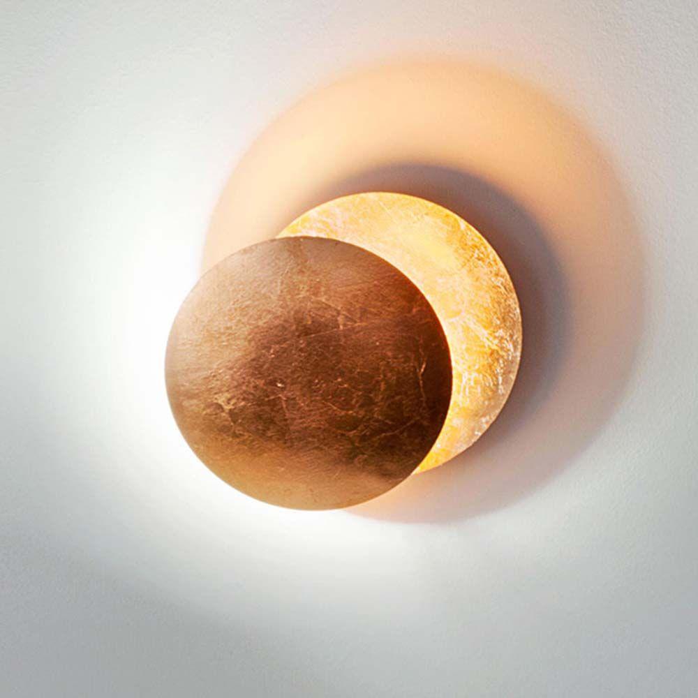 Nordic Vintage Art Moon Solar Eclipse LED Lamp Light Fixtures Bedside Light Living Room Wall Sconce Lamp Night Light Home Docor