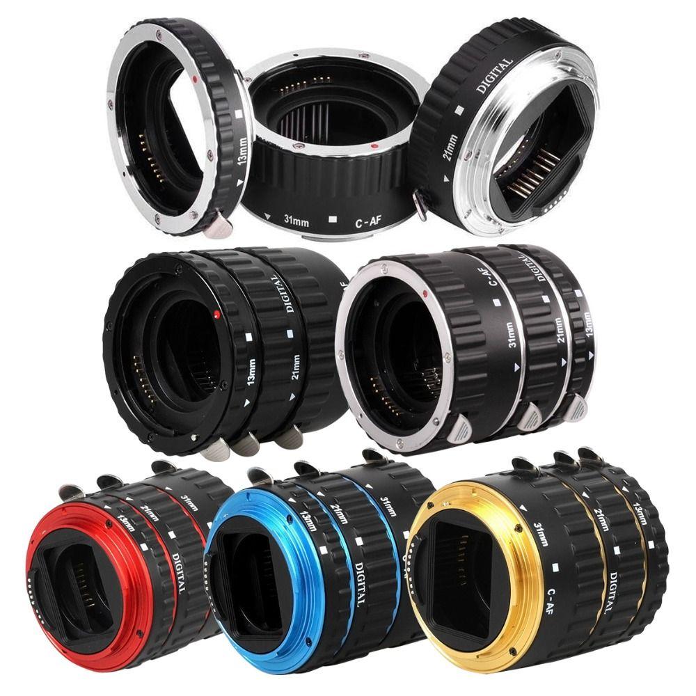 Anneau de Tube d'extension AF à montage automatique en métal pour objectif Canon EOS EF-S 760D 750D 700D 5D Mark IV 80D 7D T6s 6D adaptateur d'objectif