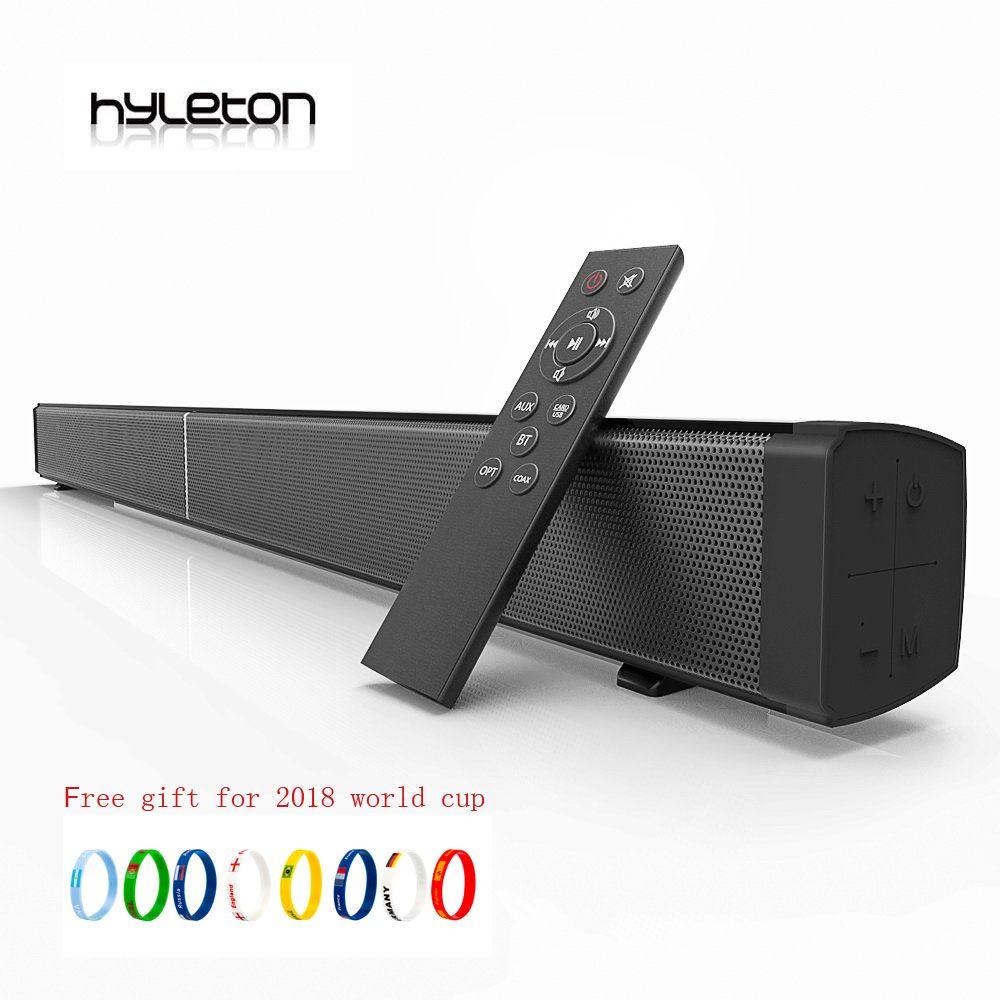 Hyleton Soundbar TV speaker Subwoof Bluetooth Speaker Echo Wall Soundbar U-disk Plugging Speaker Wall-mounted Remote Control