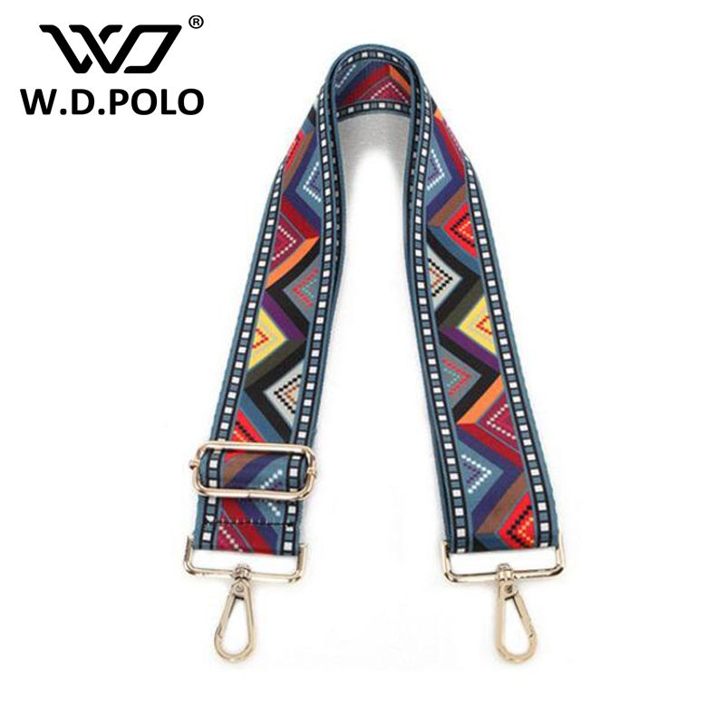 WDPOLO new national wind design strap for women handbags width handle for bags easy matching adjust gold buckle bags belts AA099