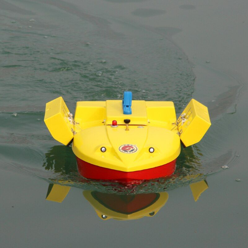 RC Remote Control Fishing Bait Boat HYZ-60 500M 2.5KG Load Twin-Bucket Roll RC Dipping boat With Night Light Add Fish Detector
