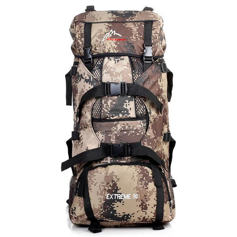 2018 New High-Capacity Outdoor Camping Backpack Men's Camouflage Hiking Backpack Waterproof Sport Tactical Travel Bags S008