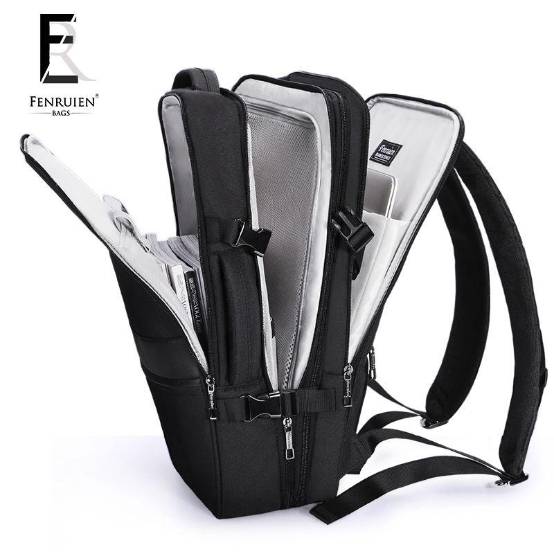 FENRUIEN Business Backpack Men 17 Inch Laptop Backpack Bag Large Mochila Triple Unisex Waterproof Antitheft Travel Men Backpack