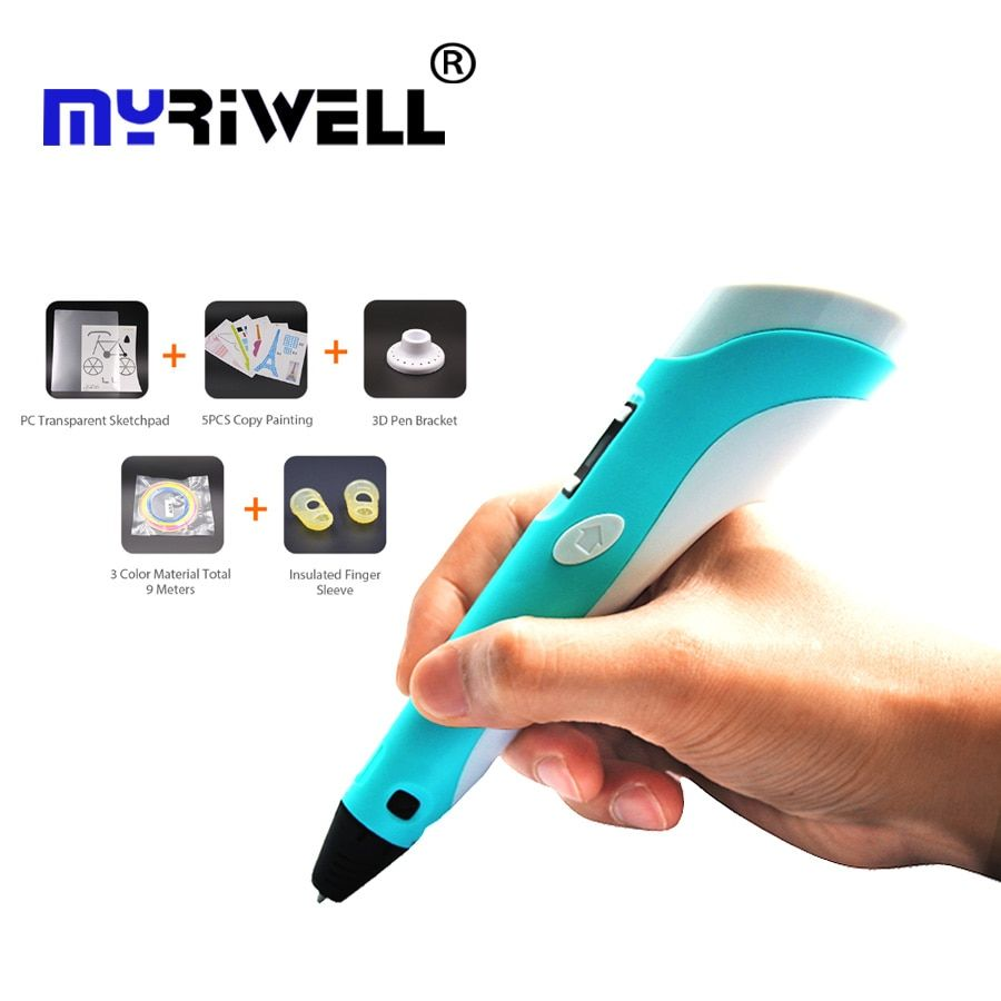 3d pen Christmas gift 3D Drawing Pen V2 With 3 Color total 9M Filaments For Children Printing Drawing 3D Pens Best Gift for Kids