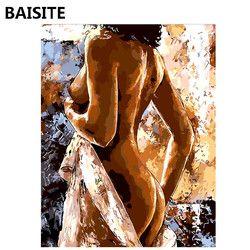 BAISITE Бескаркасный конструктор «сделай сам» картины маслом по номерам на холсте настенные картины на стену для гостиной украшения дома 1007