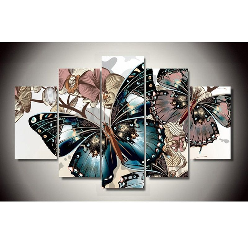 5D DIY Full Square Diamond Painting butterfly Multi-picture <font><b>Combination</b></font> 3D Embroidery Cross Stitch Mosaic Decor