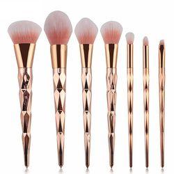 Baru 7/10 Buah Set Kuas Makeup Kuas Bedak Foundation Eye Shadow Wajah Blush Blending Kosmetik Kecantikan Make Up alat Sikat Kit
