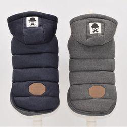 Dos Pies invierno ropa azul gris COLOR DE s-xxl tamaño para elegir súper cálido y suave algodón acolchado invierno perro chaqueta de perro