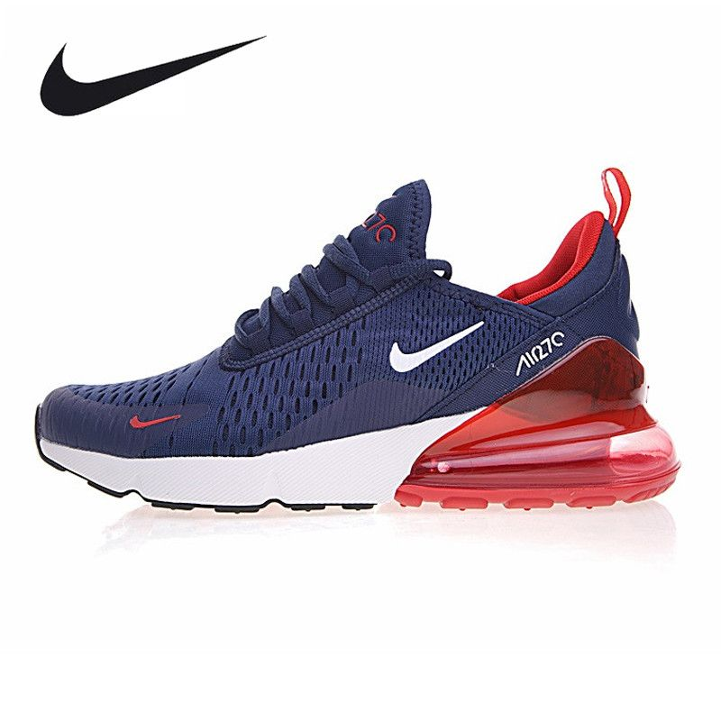 Nike Air Max 270 Men's Running Shoes, Dark Blue Grey, Breathable,Abrasion Resistant Lightweight AH8050-416 AH8050-003