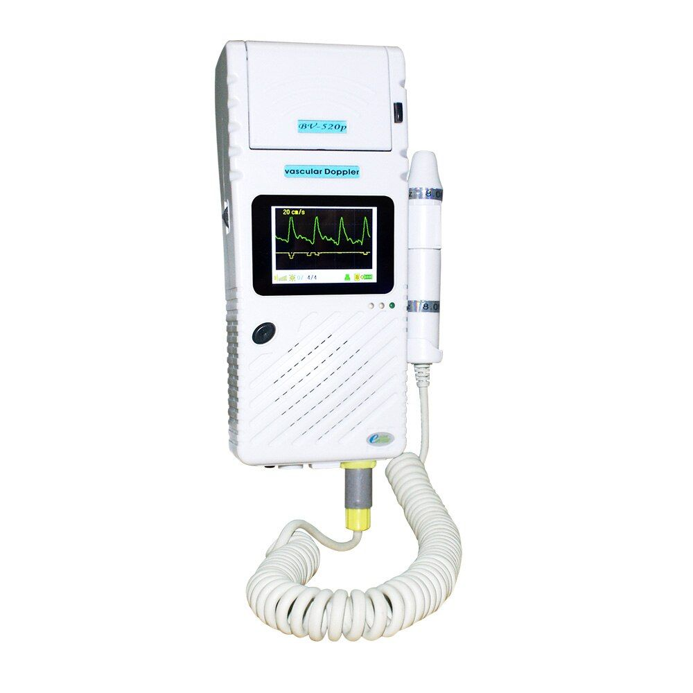 Ultrasound Vascular doppler handle type with thermal printer bidirection doppler vascular BV520P color LCD display gracphic PR