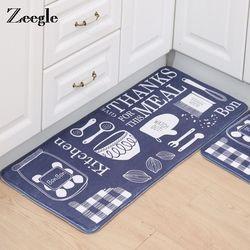Zeegle Dapur Karpet Tikar Persegi Karpet Anti-Slip Ruang Tamu Kamar Tidur Lantai Karpet Penyerap Mandi Rug