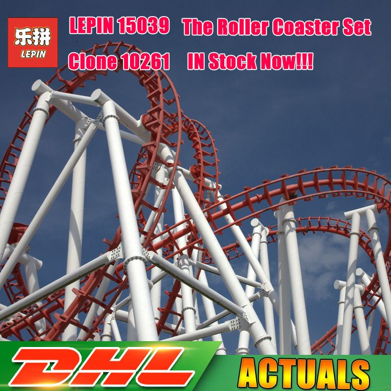 4619Pcs Lepin 15039 Amusement Park The Roller Coaster Set Model Buidling Blocks Bricks Girl Toys Compatible Legoings 10261