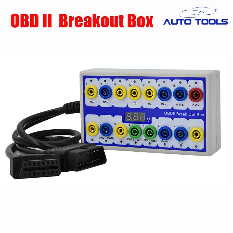 Newest Auto car Break out Box OBDII obd Breakout Box Car Protocol Detector car obd2 interface car monitor