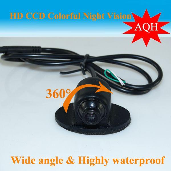 Promotion Mini CCD HD Vision Nocturne 360 Degrés Voiture Caméra de Recul Caméra Frontale Vue de Face Côté Caméra De Recul Réversible