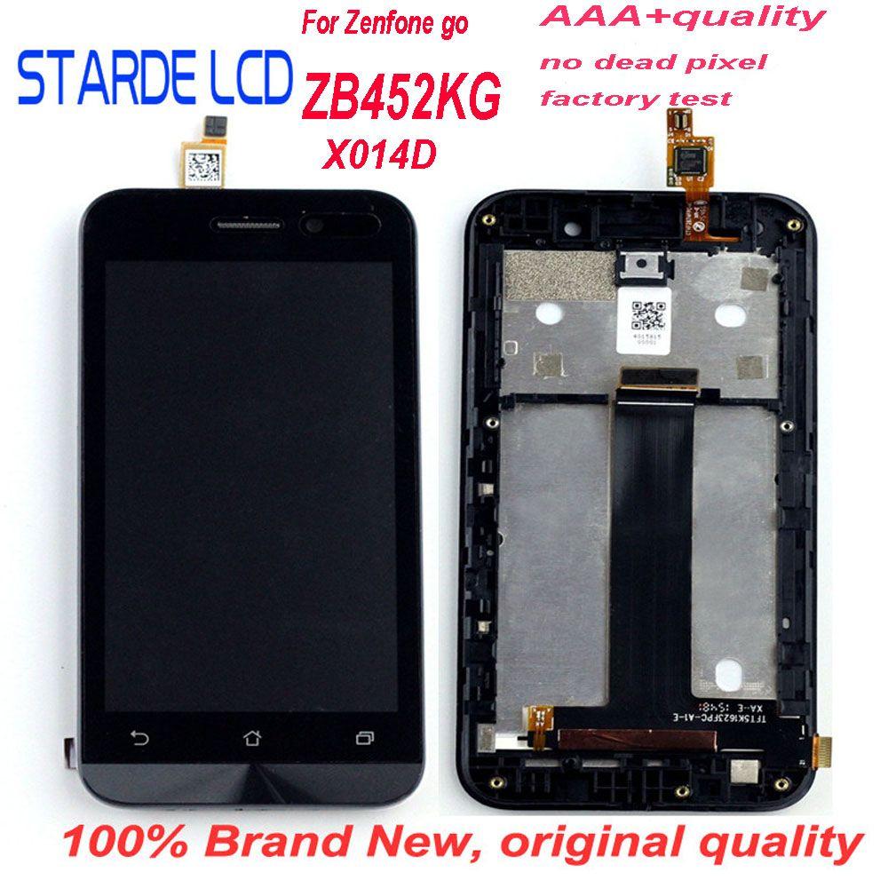 Remplacement Starde 4.5 ''LCD pour Asus ZenFone Go ZB452KG X014D LCD écran tactile numériseur assemblée avec cadre