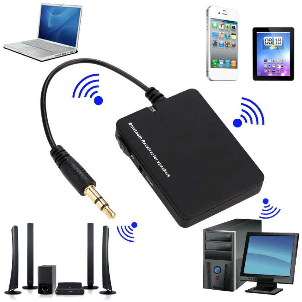 SANS RÉSERVE Portable Mini Bluetooth Audio Récepteur Sans Fil 3.5mm Musique Haut-Parleur Stéréo A2DP AVRCP Adaptateur Pour Mp3 Téléphone PC