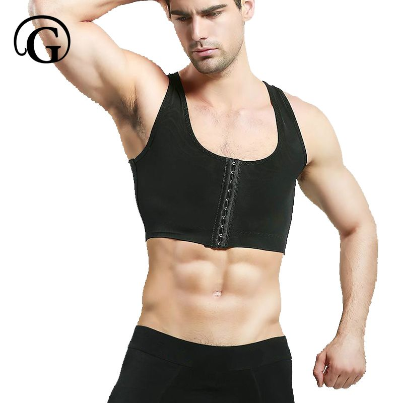 PRAYGER Power Men control Gynecomastia Shaper Compression Chest Body Posture Corrector Corset Sleeveless Invisible Top Underwear