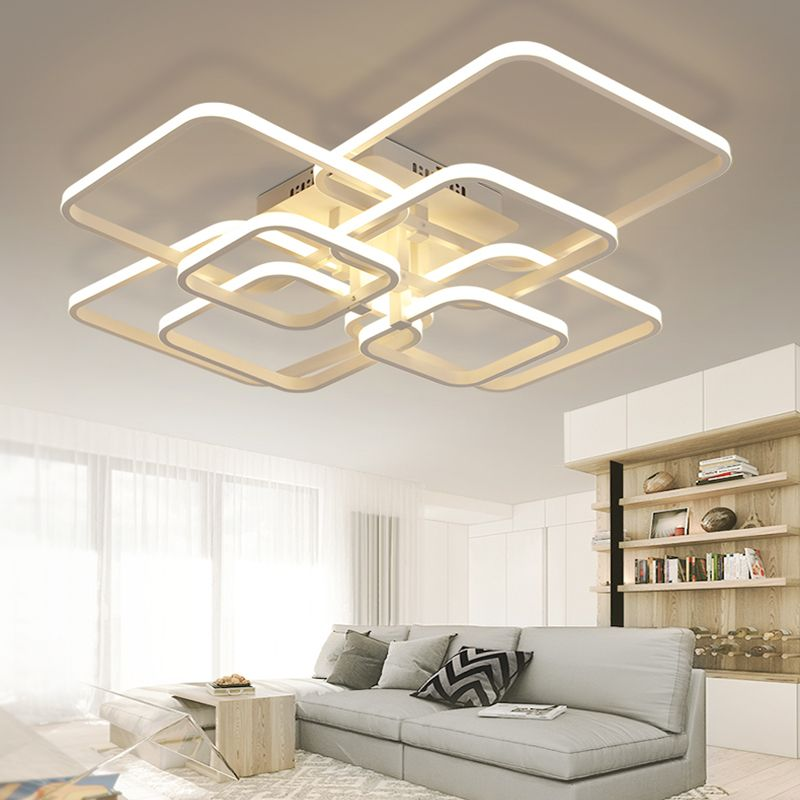 Abajur Lustres De Sala Home Lighting Fixtures Originality Aluminum Material Art Led Ceiling Lamp Modern Simplicity Personalized