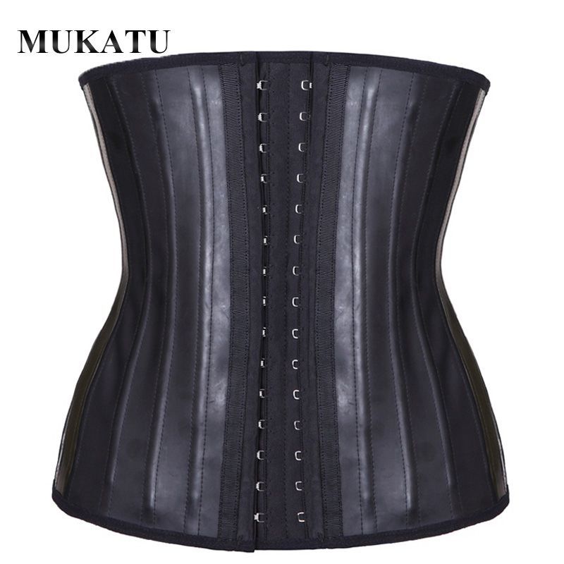 MUKATU Latex taille formateur Corset ventre sous-vêtements amincissants ceinture gaine corps Shaper modélisation sangle 25 acier désossé taille Cincher