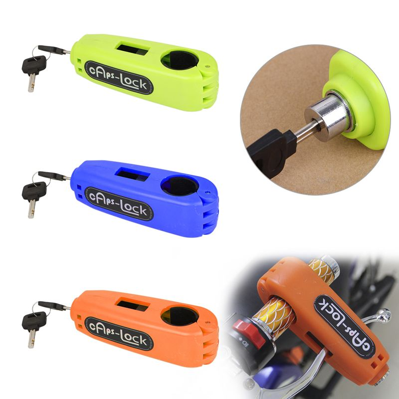 ABS Croc-Lock Motorcycle Scooter <font><b>Handlebar</b></font> Therottle Grip Horn Lock Security <font><b>Handlebar</b></font> Grip Lock+2 Keys